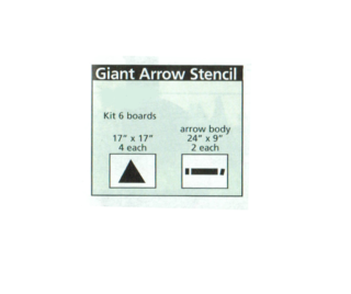 Giant Arrow Stencil