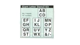 Giant Letter Stencil Kit