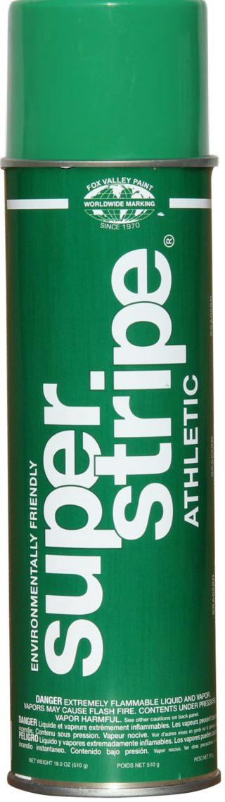 fox valley super stripe athletic aerosol striping paint green